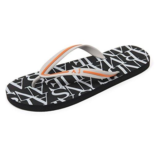 C1865 Infradito uomo ARMANI Jeans Scarpa Nero/Grigio Flip Flop Shoe Man [41]