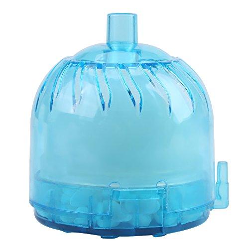 Aquarium Luftfilter biochemischer Schwamm Aktivkohle Filter unterwasserbelüfteter Sauerstoff gibt Aquarium Teich biochemisch Stein Schwamm Eckfilter frei(Blau) -