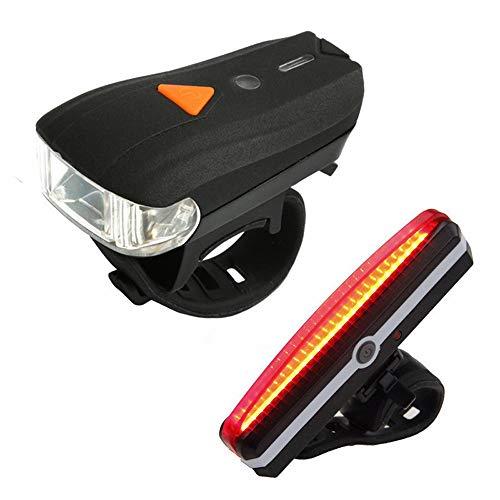 LED Fahrradlampe Set, Nourich Wasserdicht USB Frontleuchte Scheinwerferlampe Fahrradleuchte Fahrradbeleuchtung Fahrradlicht Scheinwerfer,Aufladbare Fahrradlichter Licht Lamp Rücklicht (schwarz)