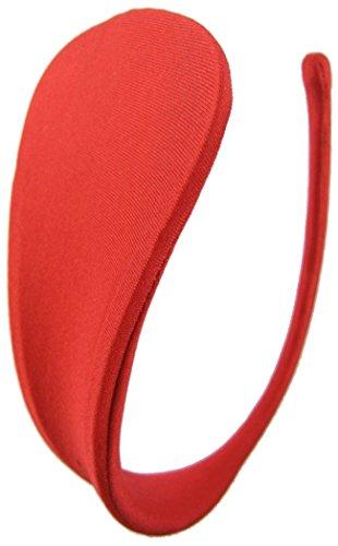 C-String Damen Doppelpack Slip Höschen glatt uni-farbig Weiß/Rot