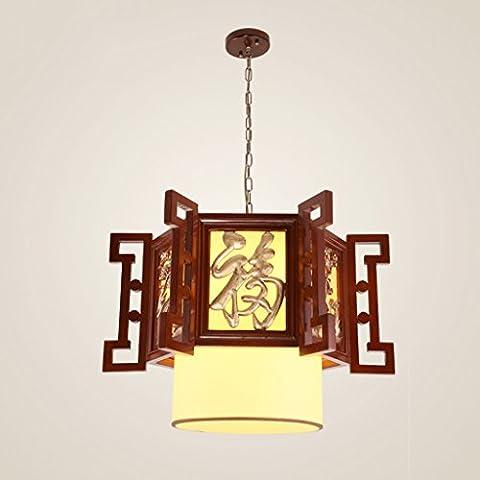 & MUYUAN @ - Lanternes Anciennes Lustres en Chinois Lampes Classiques de Palais Sculptures en Bois Massif Lampes de Salle à Manger Lampes de Balcon Lampes de Salle d