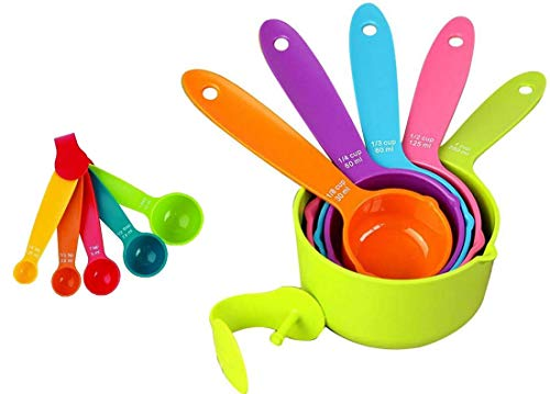 Earth Star Plastic Measuring Cups and Spoons  Set of 10
