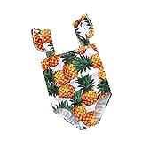 Jitong Swimwear Familien Outfit für Mutter Tochter/Strand Bikini Top/Gedrucktes Strampler Babykleidung Set (Ananas # Baby, 6Y #1)