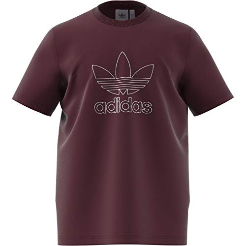 Maroon Loose Fit Shirt (adidas Outline)