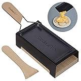 Raclette per formaggio con manico pieghevole, teglia con spatola e candele, si scioglie in meno di 4 minuti, ottima idea regalo
