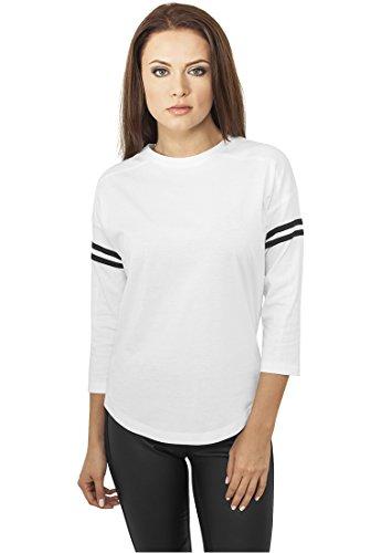 Urban Classics Damen Sleeve Striped Tee Wht/Blk