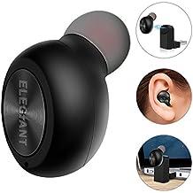Mini Auricular bluetooth 4.1In-Ear ELEGIANT con Micrófono Llamada Manos Libre con Usb Magnetico Carga en coche y para Iphone X 8 7 6 6S 5S SE Android Samsung Headset Wireless Con Pequeño WIREL