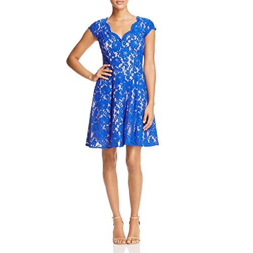 Eliza J Womens V-Neck Fit & Flare Casual Dress