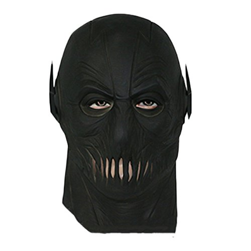 nihiug DER FLASH Der Blitz Der Bösewicht Die Eile Zoom Maske Kapuze Halloween Cos Maske Des Terrors,Black-OneSize