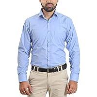 Players Men's Cotton Blend Viscose Formal Shirt (Sku0094_40__Sky Blue_40)