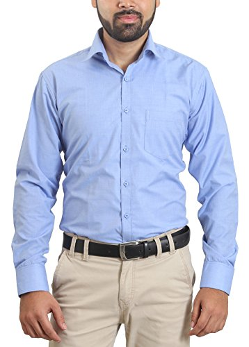 Players Men's Cotton Blend Viscose Formal Shirt (Sku0094_40__Sky Blue_40)