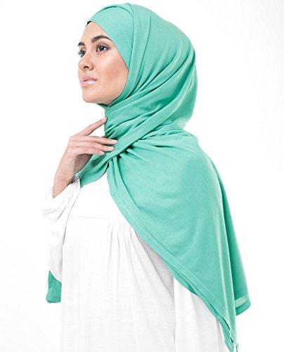 InEssence, Kopftuch / Schal / Hidschab, aus Jersey-Stoff, für Damen Gr. M, Aqua Green Turquoise - 3