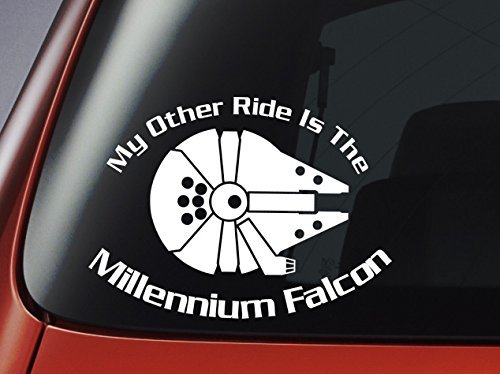 Preisvergleich Produktbild Star Wars 'My Other Ride Is The Millennium Falcon' - Vinyl Decal - Car, Window, Wall, Laptop Sticker by Level 33 Ltd