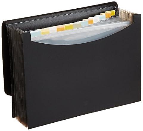 AmazonBasics Porte-documents type trieur à soufflets Format lettre (A4) Noir