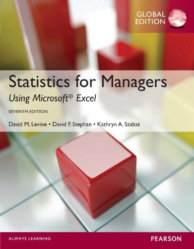 Statistics for Managers using MS Excel, Global Edition (English Edition)