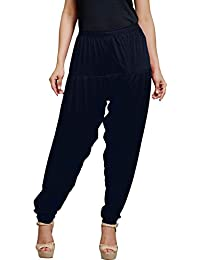 Trigger Women's Viscose Cotton Patiala Pant(Navy Blue)