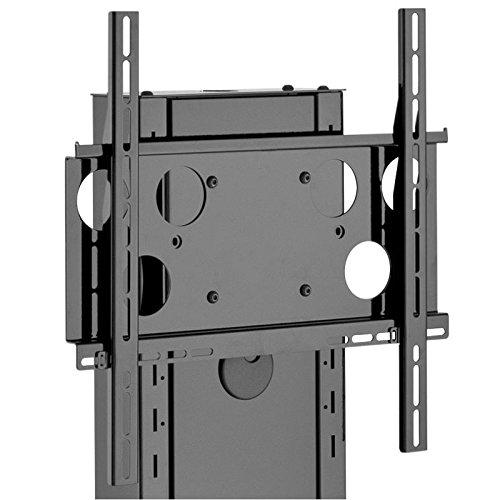 HAGOR Info-Tower Single L Standsaeule Fuer Dispalys von 116-213 cm inklusive TV Aufnahme PLW 50 Schwarz