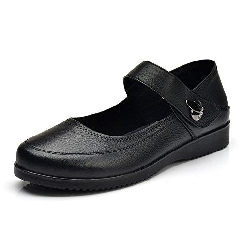 Chaussures de fond mou/Chaussures de mère confortable faible fermoir/Chaussures pour femmes grande taille A
