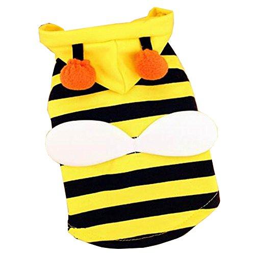 Nette Welpen gekleidet Spezielle Frühling Sommer Kleidung [Biene] (Hund Biene Kostüm Uk)