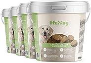 Amazon-Marke: Lifelong - Hundeleckerli, reich an Protein, mit Lamm (4 x 500gr Becher)