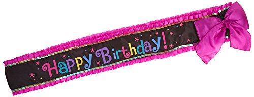 Happy Birthday Deluxe Sashes 1.42m (Happy Birthday Sash)