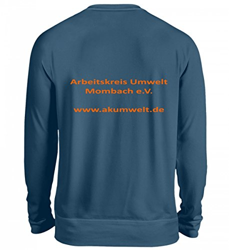 Hochwertiges Unisex Sweashirt - Vereins-TShrit Ak Umwelt Mombach Azurblau