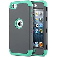 ULAK iPod Touch 5 Caso funda iPod Touch 6 case de silicona a prueba de polvo cubre la cubierta hñbrida y la moda a prueba de golpes para la 6 /5 generación de mayo Manzano iPod Touch (Gris)
