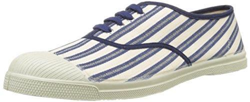 Bensimon Tennis Lacet Rayures Transat, Baskets Basses Homme Bleu (Bleu)