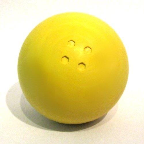 Boßelkugel Gummi gelb
