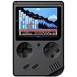 Console de jeux portable, Console de jeux 3pouces 500jeux rétro FC Game Player Console de jeux Classique 1Charge USB, cadeau d'anniversaire pour les enfants Parents amis Noir