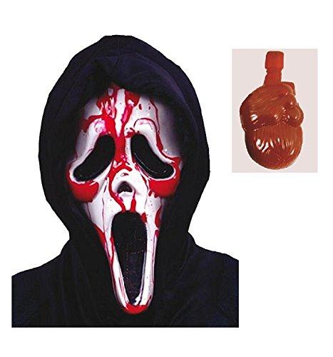 Maske Clown Kunststoff (Scary Halloween Maske Fancy Dress Zubehör Clown sah Evil Haar Horror Latex für Erwachsene und Kinder von)