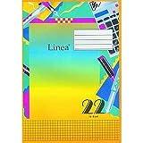 Schulheft LINEA DIN A4, kariert, 16 Blatt, Lineatur 22