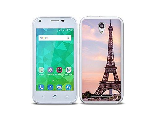 etuo Handyhülle für ZTE Blade L110 - Hülle Foto Case - Eiffelturm in Paris - Handyhülle Schutzhülle Etui Case Cover Tasche für Handy