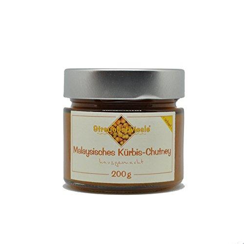Streuobstwiesle Malaysisches Kürbis Chutney - 200 g - Herzhafte, aromatische Sauce zum Grillen, zum Fondue, zum Raclette, zum Kase, zum Reis. - Malaysische Natürliche