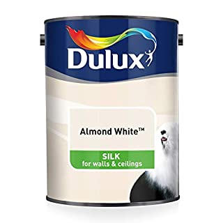 Dulux Silk Emulsion Paint For Walls And Ceilings - Almond White 5L