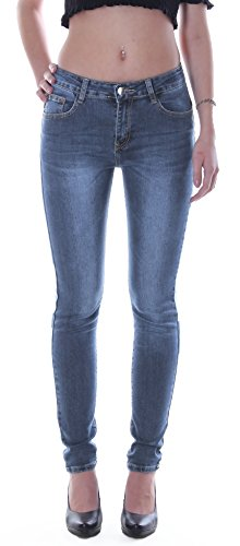 Damen Übergrößen Hochschnitt Jeans Hose Stretch High Waist Röhrenjeans blau 42 bis 50 Damenjeans Damenhose Jeanshose Stretchjeans Stretchhose Hochbund Bund Röhre Over Size Plus Big Gr Größe 42 (Blaue Stretch-hose)