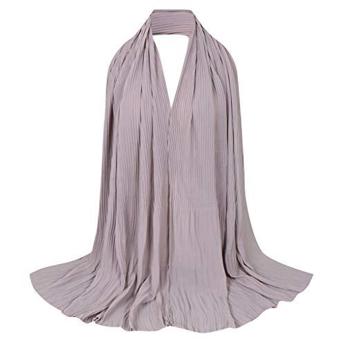 Lazzboy Frauen Abaya Islamischen Muslimischen Nahen Osten Hijab Scarf Wrap Headwear Damen Viskose Hijabs Schals Schöne Caps Schal Kopftuch - Plain Printe Stirnband Muslim