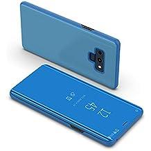 BCIT Samsung Galaxy Note 9 Funda - Modelo Inteligente Fecha/Hora Ver Espejo Brillante Tirón