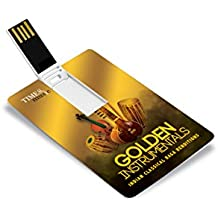 Music Card: Golden Instrumentals - Indian Classical Raga Renditions - 320 kbps Mp3 Audio (4 GB)