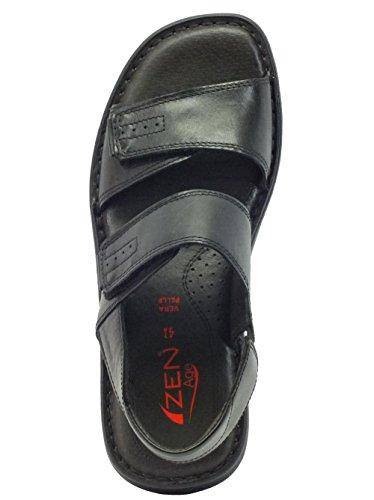 Zen  476756 Nero, Herren Sandalen Schwarz