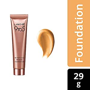 Lakme 9 to 5 Weightless Mousse Foundation, Beige Vanilla, 29g