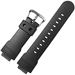 Zhuhaixmy Black Resin Watch Band Strap for Casio Men's AW-582-1A AW-582C-2A AW-582C-4A