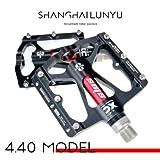 LYLIN Fahrradpedale, Bike Pedale mit Achsendurchmesser 9/16 Zoll Ultraleicht aus Aluminium für Universell BMX Mountain Bike Rennrad Trekkingrad (Schwarz)