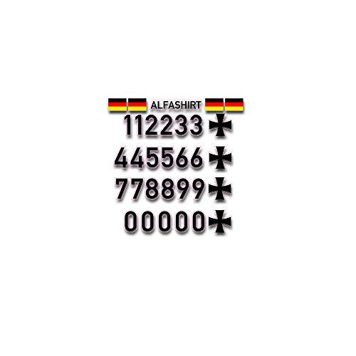 Luftwaffe Luftfahrtkennungs Set Bundeswehr Aufklber Sticker Zahlen #A4787