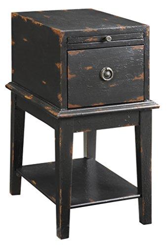 Treasure Trove Accents Truhe für Stühle, verwittert und gealtert, Schwarz - Accent Stuhl