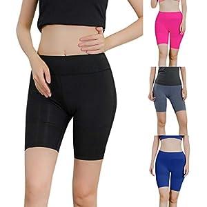 Deloito Damen Einfarbig Reflektierender Streifen Draussen Laufen Workout Sport Shorts Freizeit Gym Schnell Yoga Fitness Kurze Hosen