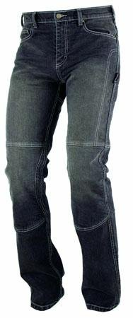 Jeans Pantaloni Moto Protezioni Omologate Inserti Aramid Rinforzati Nero 34