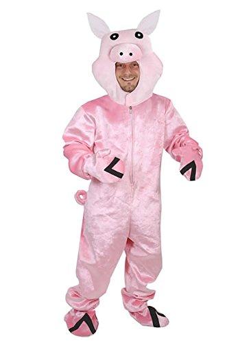 Schwein Kostüm offen Einheitsgrösse XXXL - XXXXL Super Size Fasching Karneval Motto Party  für Personen bis 2,0 Meter Grösse - Top 10 Maskottchen Kostüm