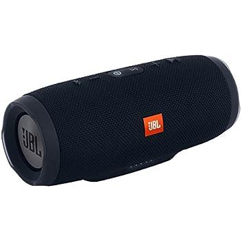 JBL Charge 3 Tragbarer Bluetooth-Lautsprecher (Wasserdicht, mit 6000 mAh Power Bank und Freisprechfunktion) Schwarz