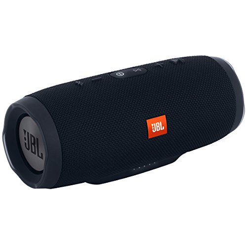 JBL Charge 3 Speaker Bluetooth, Waterproof, Portatile, Microfono per Chiamate in Vivavoce, Power Bank Incorporato, Compatibile con Smartphone/Tablet e Dispositivi MP3, JBL Connect, Nero